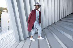 Costume - Manteau - SAUDADE DE PARIS - Ciel de Paris - Tailoring - Paris - Men Outfit - Gentleman - Suit - Coat - Kimono - Philharmonie