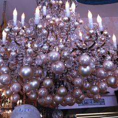 christmas ball chandelier