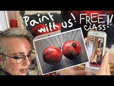 Paint with us!! FREE PAINTING CLASS Teaching, Videos, Artist, Youtube, Painting, Free, Artists, Painting Art, Paintings