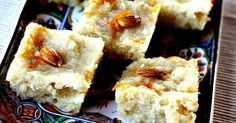 Basbousa - Semolina Cake soaked in a Lemon Rosewater Syrup, a recipe on Food52