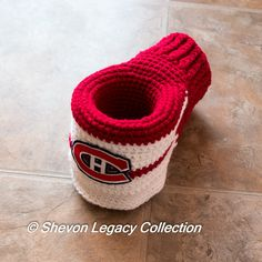 This item is unavailable Montreal Canadiens, Hockey Teams, Hand Warmers, Sale Items, Crochet, Nhl, Mittens, Beverage, Baby Shoes