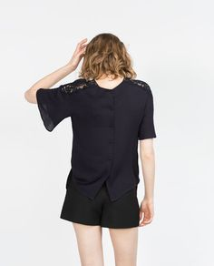 Image 5 of GUIPURE LACE TOP from Zara