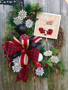 A personal favorite from my Etsy shop https://www.etsy.com/listing/576254941/christmas-wreath-buffalo-plaid-christmas