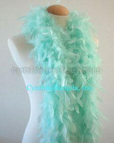 80 Gram CHANDELLE FEATHER BOA Costume//Halloween//Bridal TEAL GREEN 2 Yards