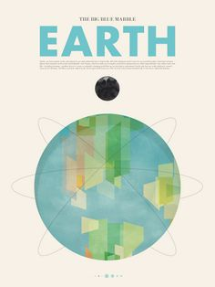 """""""Beyond Earth"""" by Canadian designer Stephen Di Donato is a beautiful minimalist poster series featuring the planets of the Solar System. Poster Design, Graphic Design Posters, Graphic Design Typography, Graphic Design Inspiration, Print Design, Earth Day Posters, Earth Poster, Web Design, Poster Series"""