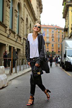 Sasha Luss after Gucci, Milano, September 2014
