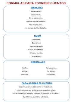 Actividades para la animación lectora: Crea tu propio cuento... Kindergarten Writing, Teaching Writing, Teaching Spanish, Writing Tips, Spanish Grammar, Spanish Activities, Teacher Organization, Spanish Lessons, Sixth Grade