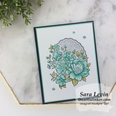From to a little more stepped up card, the Lovely Lattice stamp set from Sale a Bration 2019 is so easy to create with! Happy Birthday Cards, Paper Cards, Flower Cards, Anniversary Cards, Greeting Cards Handmade, Homemade Cards, Stampin Up Cards, Making Ideas, Cardmaking