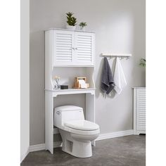 Over The Toilet Rack, Over The Toilet Cabinet, Bathroom Cabinets Over Toilet, Toilet Sink, Towel Storage, Bathroom Storage, Bathroom Ideas, Behind Toilet Storage, Metal Storage Cabinets