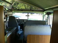 1986 Vixen interior--the only motorhome that can fit in your garage