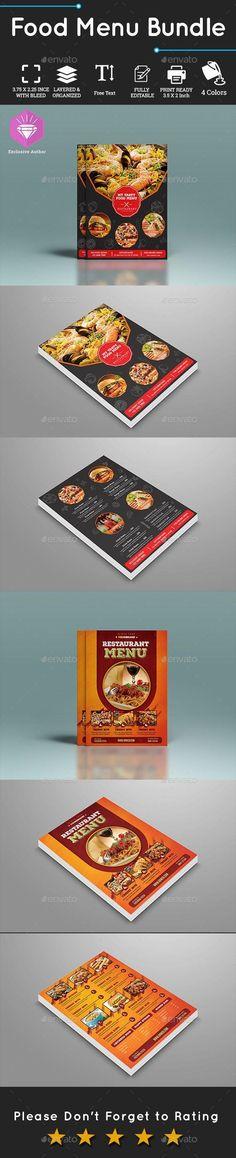 Food Menu Bundle #graphics #DesignCollection #GraphicDesign #DesignSet #Envato #FoodMenu #DesignResources #TemplateDesign #restaurant #design #menu #collection #PrintDesign #GraphicResource #food #PrintTemplates #sets #MenuTemplate Food Menu Design, Restaurant Menu Design, Food Menu Template, Menu Templates, Menu Printing, Print Design, Graphic Design, Postcard Template, Drink Menu