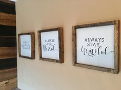 Decorate your holiday season with a touch of farmhouse decor! All signs measure out to be Signs can be purchased separately or as one unit! All signs come with installed saw tooth hangers for easy hangup Christmas Mason Jars, Christmas Centerpieces, Thanksgiving Decorations, Christmas Tree Decorations, Blessed Sign, Bathroom Wall Art, Home Projects, Wood Signs, Living Room Decor