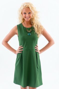 A Classic Example Dress-Evergreen