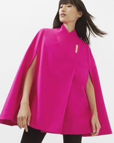 Wool wrap over cape - Fuchsia | Jackets And Coats | Ted Baker - in love with my new jacket