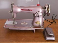 Pretty vintage sewing machine! Pink Remington