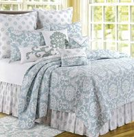 Providence Chambray Quilt in full queen and king sizes, bed skirts, and pillows Bed Bath & Beyond, Quilt Bedding, Bedding Sets, Damask Bedding, Floral Bedding, Tahari Bedding, Ruffle Quilt, Queen Quilt, Quilt Sets