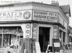 #Didsbury #Manchester Didsbury Pet and Garden Store, Wilmslow Rd/North St, 1959  Wilmslow Road west side 243 Didsbury corner of North Street, 1959.  https://www.flickr.com/photos/manchesterarchiveplus/5860521938/in/set-72157628510542887