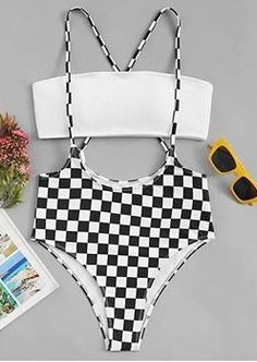 Shop Bandeau Top With Checkered Suspender Two Piece Swim online. ROMWE offers Bandeau Top With Checkered Suspender Two Piece Swim & more to fit your fashionable needs.Product name: [good_name] at SHEIN, Category: Bikinis, Price: [good_price]Shop the Mode Du Bikini, Vs Bikini, Bikini Set, Cute Swimsuits, Cute Bikinis, Bikini Ready, Bikini Outfits, Cute Bathing Suits, Beachwear For Women