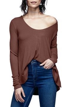 Free People 'Malibu' Thermal Top available at #Nordstrom - Small - light blue, white or pink?
