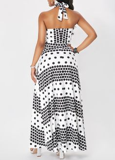 Dresses For Women Polka Dot Maxi Dresses, Halter Maxi Dresses, African Fashion Dresses, African Dress, Latifa, Edwardian Dress, Spandex Dress, Abaya Fashion, Modest Outfits