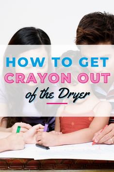 Did you throw your kids crayon-stained clothes into the washer -- and then dryer -- without realizing that they were stained? No bother, we're sharing the top tips on how to get crayon out of clothes. Laundry Storage, Diy Storage, Doing Laundry, Other People, Dryer, Washer, How To Get, Kids, Clothes