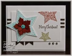 Stamps - Our Daily Bread Designs His Birth, ODBD Custom Sparkling Stars Dies, ODBD Peaceful Poinsettias Dies