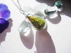 echtes Moos  925er SilberKette von Flowerring auf DaWanda.com