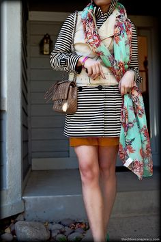 Outfit Of The Yesterday: Floral & Stripes | t h e (c h l o e) c o n s p i r a c y : fashion + life + style