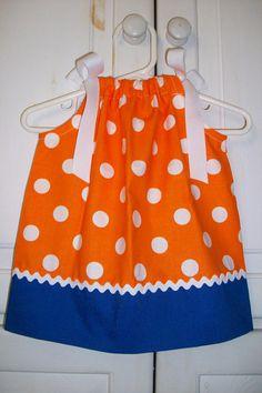 Pillowcase Dress FLORIDA University GATORS by lilsweetieboutique, $17.99