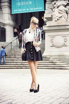 #fashion #fashionista Camilla bianco nero Glamgerous - Fashion Blogger: Stripes & Flowers