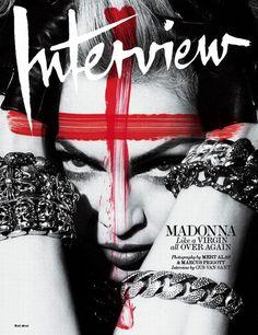 Madonna in Interview Magazine 2010. #Cover #Fashion #Magazine