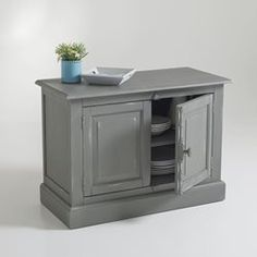 EULALI 2-Door Solid Pine Sideboard La Redoute Interieurs - Sideboards & Cabinets