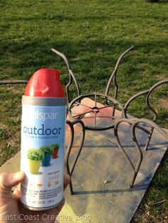 How to Paint Outdoor Furniture Spray painting Sprays and Patios