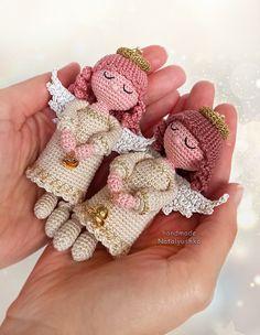 "Size: 11 cm = 4.3"" #ChristmasAngel #Angelkeychain #WhiteAngel #CrochetAngel #ChristmasOrnaments #Christmastreetopper #HandmadAngel Angel Christmas Tree Topper, Christmas Angels, Crochet Dolls, Hand Crochet, Car Accessories For Women, Angel Decor, Crochet Keychain, Little Doll, Little White"