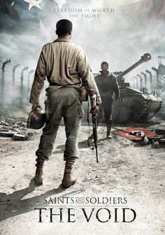 Saints and Soldiers: The Void is a WWII movie for the whole family. A tanker crew must overcome it prejudices to put their faith in a black tank driver.