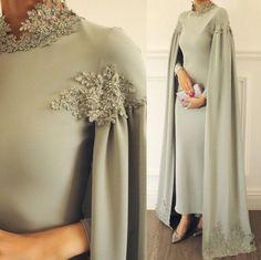 Abaya Fashion, Muslim Fashion, Modest Fashion, Fashion Dresses, Hijab Evening Dress, Hijab Dress Party, Evening Dresses, Mode Abaya, Mode Hijab