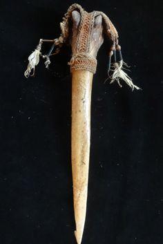 Cassowary Bone Dagger Papua New Guinea Ethnographic by ubudexotica