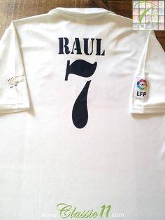 2002 03 Real Madrid Home La Liga Football Shirt Raul  7   Retro Jersey  b3bf6d4df