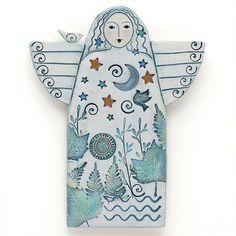 Angel Handmade Ceramic Angel Home Decor wall art by DavisVachon