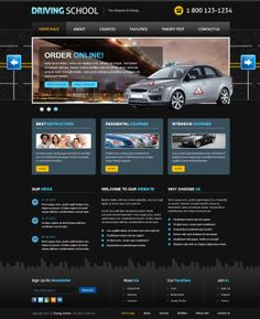 Driving School The Pleasure of Driving Joomla Template by Dynamic Template