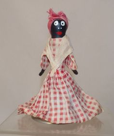 Darling Vintage 1940s Black Americana Mammy Doll Bell