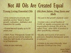 "Many people wonder why Young Living oils cost more than eBay, Amazon or drug store oils. With just a little bit of research, it becomes clear ""why"" - quality, purity, experience. http://www.theoildropper.com/amyhitchings/"