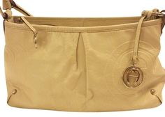 Etienne Aigner Etienne Aigner Genuine Leather Creme Color   Off White Tote  Bag. Get one ee46e3b888