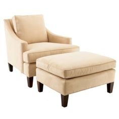 Manchester Chair & Ottoman from Ballard Designs.  Perfectly classic, and the fabric options are great.  I personally would love this chair/ottoman in either the gray leopard OR gray and white chevron.  Accent chairs are your opportunity to add PATTERN to a space!!!