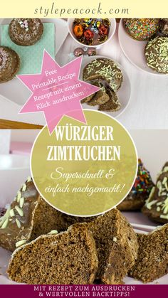 Cinnamon Cake, Fabulous Foods, Sweets, Foodblogger, Post, Breakfast, Food Ideas, German, Koken