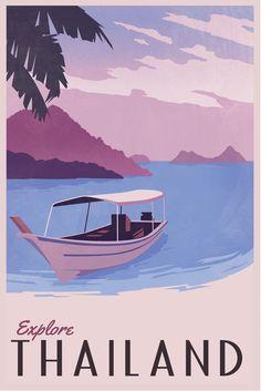 Vintage Travel Poster - Thailand.