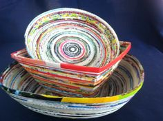 Bowls made from recycled paper in Vietnam