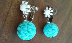 50s MIRIAM HASKELLTurquoise and White by VINTAGELOVERGIRL on Etsy
