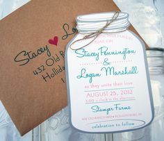Mason Jar save-the-dates from WhimsyBDesigns, $4.99