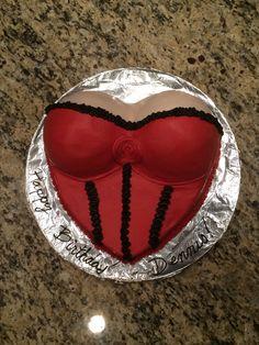 Make a boob shaped cake how